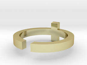 (USA) 9-3/4 Cross  - Multiple Sizes in 18K Gold Plated