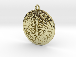 Celtic Knots Ornament Amulet in 18K Gold Plated