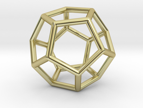 Dodecahedron Pendant in 18K Gold Plated