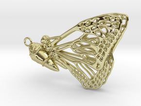 Butterfly Cocoon pendant in 18K Gold Plated