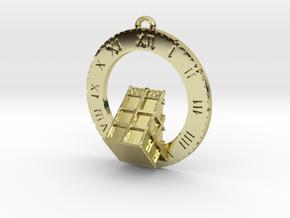 TARDIS Angled Bottom Half - Pendant in 18K Gold Plated