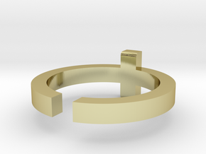 (USA) 8-3/4 Cross - Multiple Sizes in 18K Gold Plated