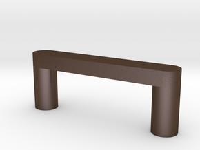 Modern Cabinet Handle in Polished Bronze Steel