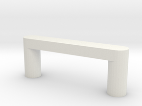 Modern Cabinet Handle in White Natural Versatile Plastic