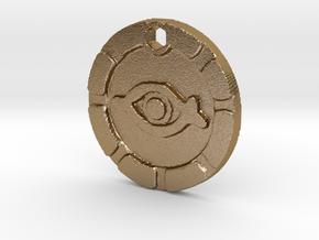Indiana Jones Eye of Mara Necklace Replica in Polished Gold Steel