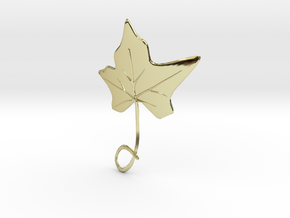 Ivy Leaf Necklace Ornament in 18K Gold Plated