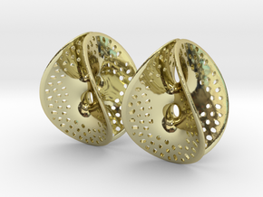 Small Perforated Chen-Gackstatter Thayer Earring in 18K Gold Plated