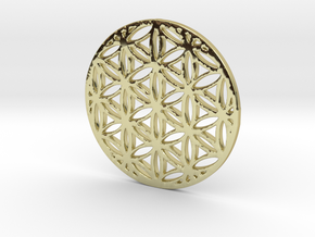 Flower of Life in 18K Gold Plated