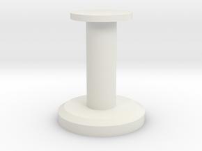 Round Stand 3cm in White Natural Versatile Plastic