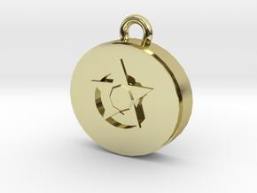 star gem pendant in 18K Gold Plated