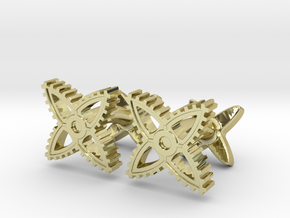 X-Gear Cufflinks in 18K Gold Plated