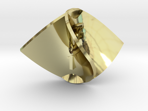 Enneper Surface d4 in 18K Gold Plated
