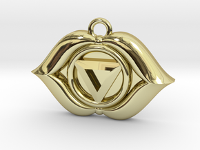 Ajna (Third Eye Chakra) Pendant in 18K Gold Plated