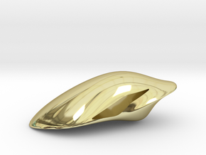 Floating Pendant. Smooth Shaped for Perfect Comfor in 18K Gold Plated