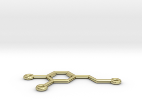 Dopamine Molecule Pendant or Earing in 18K Gold Plated