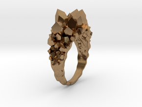 Crystal Ring size 12 in Natural Brass