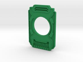 Halo Cortana Card Replica Necklace in Green Processed Versatile Plastic