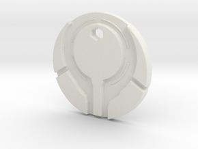 Halo 4 Style Reclaimer Logo Necklace Bungie in White Natural Versatile Plastic