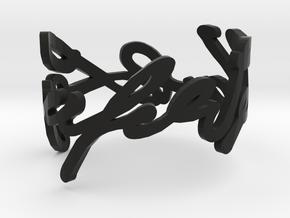 Karl Lagerfeld's signature cuff in Black Natural Versatile Plastic