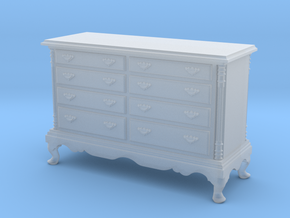 1:48 Queen Anne Double Dresser in Smooth Fine Detail Plastic