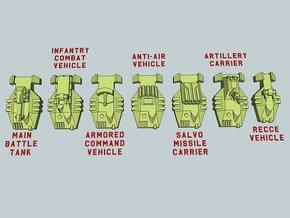 """Team Bayonet"" 3mm Anti-Grav Armor Sample Pack in Smooth Fine Detail Plastic"