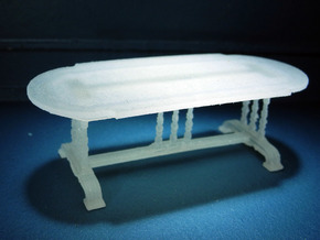 1:48 Old English Oval Table in Smooth Fine Detail Plastic