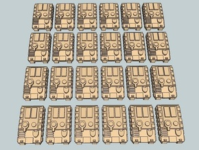 """Team Sabre"" 3mm Tracked APCs (24 Pcs) in Smooth Fine Detail Plastic"