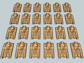 """Team Falchion"" 3mm Sci-Fi Tracked Tanks (24 pcs) in White Natural Versatile Plastic"