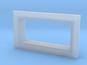 Square .28 Voltmeter Bezel in Smooth Fine Detail Plastic