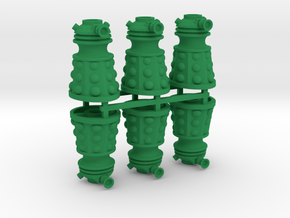 Dalek Post Version A (six pack) in Green Processed Versatile Plastic