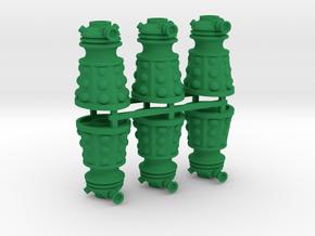 Dalek Post Version A (six pack) in Green Processed Versatile Plastic