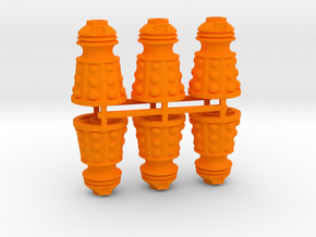 Dalek Post Version B (six pack) in Orange Processed Versatile Plastic
