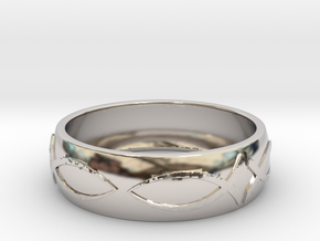 Size 11 Ring  in Rhodium Plated Brass