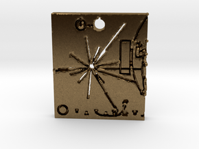 Pioneer Plaque Pendant in Natural Bronze