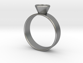 Ring with heart in Natural Silver
