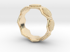 Seeds of life ring in 14k Gold Plated Brass