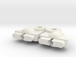 RC10DS front shock mounts in White Natural Versatile Plastic
