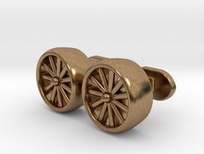 Jet Engine cufflinks in Natural Brass