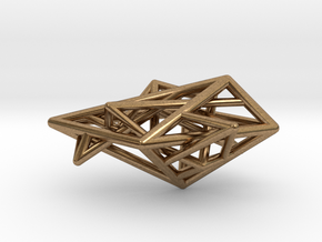 Angular Complexity Necklace in Natural Brass