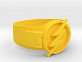 Flash Ring Size 11.5 21.08 mm  in Yellow Processed Versatile Plastic
