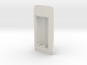 1590B-Series Battery Lid (simple) in White Natural Versatile Plastic