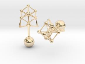 Atomium Cufflinks in 14K Yellow Gold