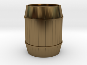 Barrel in Polished Bronze