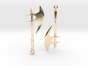Axe03 in 14k Gold Plated Brass