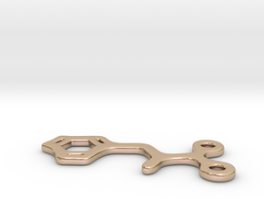 Phenylalanine Charm in 14k Rose Gold Plated Brass