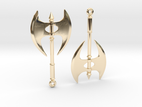 Axe06 in 14k Gold Plated Brass