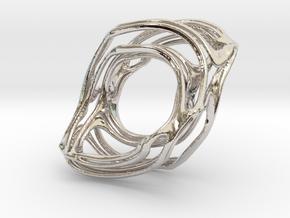 BristorBrot Julia Ring 21mm in Rhodium Plated Brass