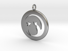Cat Necklace in Natural Silver