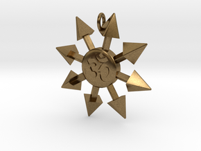 Chaos Star Pendant in Natural Bronze