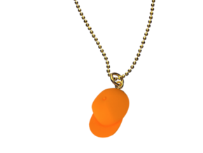 The Caskate Necklace in Orange Processed Versatile Plastic